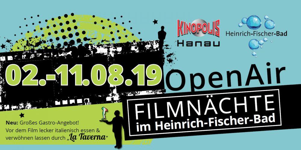 Gewinnspiel Juli: 2 x 2 Karten für die Filmnächte im Heinrich-Fischer-Bad